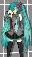 Creepy Miku by Bronchospasms
