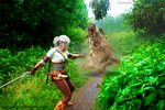Ciri vs Noonwraith by Butterfly-Hime