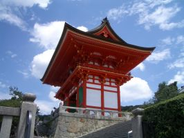 Japan red temple by CAStock