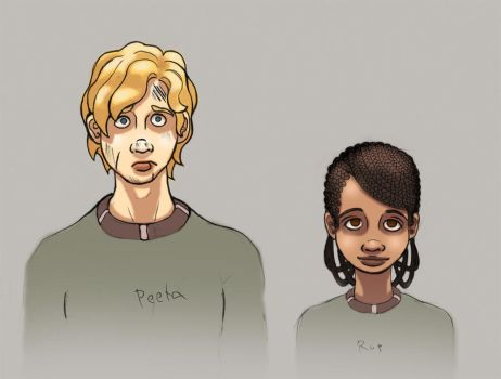 Peeta and Rue sketch by opal-devil