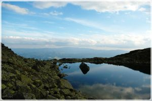 mountain and lake by Ardel2W