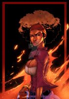 Woman on Fire Colored by Bigbusiness81