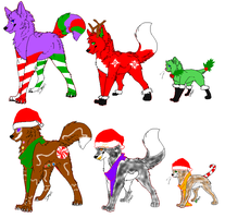 FREE CHRISTMAS ADOPTS!! [OPEN] by KatieCrace32100