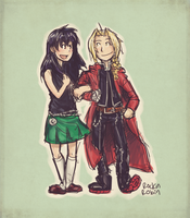 Commish :: Ed and Kagome by rockinrobin