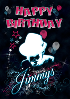 Jimmys Club Bday Card by Cypher7523
