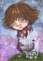 ACEO - Brand New Pair Of Wings by KootiesMom
