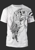 (T-shirt mock up) Falling dragon by animabase