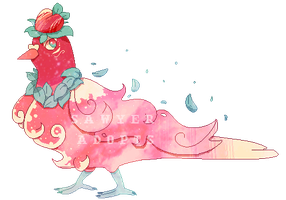 Space Pigeon !Peachy Keen! Adopt 7 [Auction Open] by SawyerAdopts