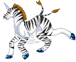 Zebra thing by WolfGlow