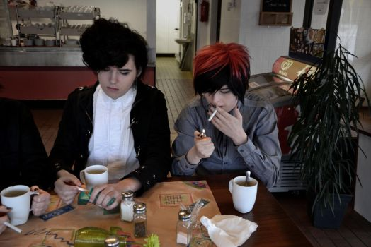 Coffee and cigarettes by throw-a-dice
