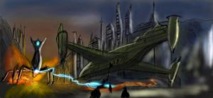 The rebel base fighting... by Norbert2009