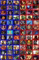 DC vs. Marvel Fan-Made Roster by animeXboy