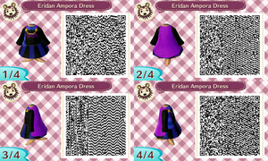 ACNL Eridan Ampora Dress QR Code by SpiritSilverMoon117