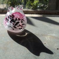 pink and black kitty by Bendzunas-Glass