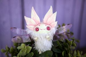 Spring flying sleepyhead - ooak fantasy animal by Furrykami-creatures