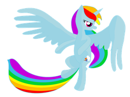 Rainbow Dash Alicorn by BellalyseWinchester