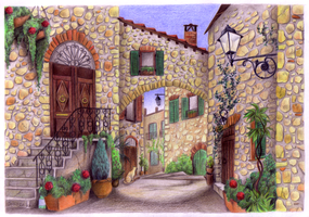 Tuscan Village by Shotechi