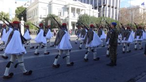 Evzones on parade by woodsman2b