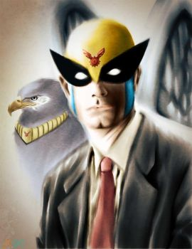 Harvey Birdman and Avenger by JordanGosselin