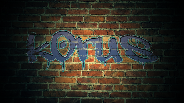 Korus - Grafitti - Blue by k0rus