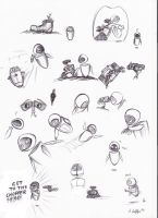 Wall.e Sketches 3 by paint-paint