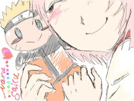 NARUSAKU kawaii by lil-artist5