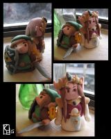 Link and Zelda Clay by panaceanplague99