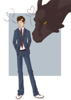 Doctor Who and Dragons by Khestrel