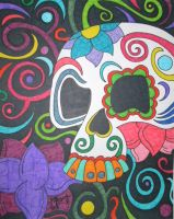 Colorful Skull by ToniTiger415