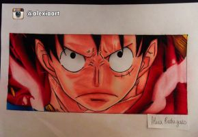 Monkey D. Luffy - One Piece by AlexiaRodrigues