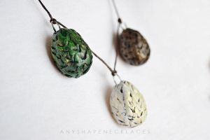 Game of Thrones Dragon Eggs necklace by AnyShapeNecklaces
