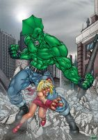 pant's Savage Dragon colored by TheBob74