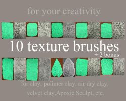 10 Texture Brushes Set by hontor