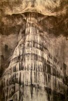 'Babel'charcoal version by A-Q-U-A-R-I-U-S