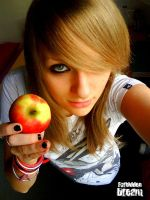 Eat Apple that's great by AuroraxCore