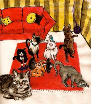 mes amis les chats by Miffeh