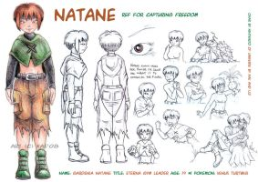 CF: Natane Model Sheet by WeaverNocturne