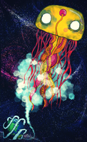 Jellyfish In Space by Brieana