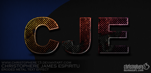 Eroded Metal Text Effect by Christophere13