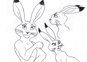 Bass as a bunny in RotG by chibi-schnurri