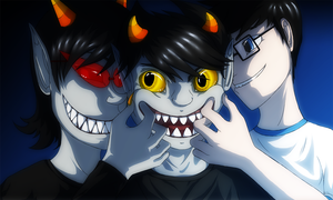 EB and GC: Make Karkat smile by aleniakalain