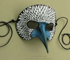 Blue Footed Booby - Leather Mask by windfalcon