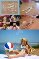 Making of Beach Belldandy by ArtyAMG
