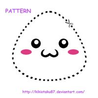 2011 Pattern for onigiri plush by kikiotaku87