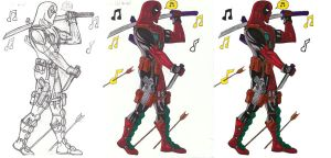 Deadpool- Whistle progression by The-Primal-Clark