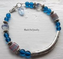 Blue Tribal Bracelet by IdolRebel