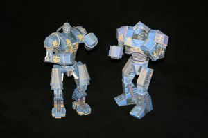 Real Steel Paper model: Noisy Boy: Both Versions by ThunderChildFTC