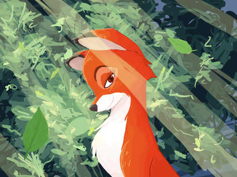 'Fox and the Hound' Vixey by AbyssOkami