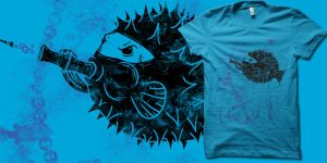 Blowgun Fish t-shirt by biotwist