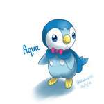 Request: Aqua the Piplup by Bluekiss131